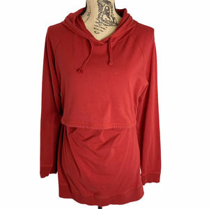 Boob B. Warmer Nursing Sweatshirt Red Maternity